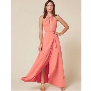 Reformation Sol Halter Maxi dress